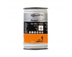 PowerLine Lint Gallagher 12,5mm Wit 100m