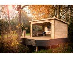 Woodvision Paviljoen Kolgans 400, 400 x 350 cm, Onbehandeld.