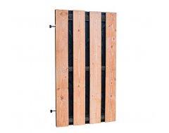 Woodvision Douglas Fijnbezaagde Plankendeur Met Zwarte Binnenzijde, Op Zwart Verstelbaar Frame, 100 x 180 cm, Zwart/onbehandeld.