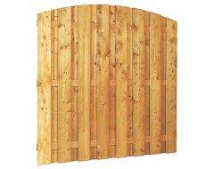 Woodvision Grenen Geschaafd Plankenscherm 15-Planks 13 mm, 180 x 164/180 cm, Verticaal Toog, Groen Geïmpregneerd.
