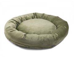 Donut Hondenkussen Velvetti Mostert Groen 100x25cm