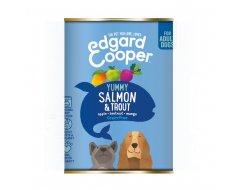 Edgar & Cooper Hondenvoer Blik Zalm & Forel 400 Gram