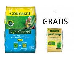 Evergreen Anti-mos + Gazonmest 350m² + 70m² Gratis 14,7kg