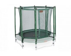 Avyna trampoline veiligheidsnet met palen Ø 245 cm Groen