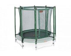 Avyna trampoline veiligheidsnet met palen Ø 430 cm Groen