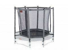 Avyna trampoline veiligheidsnet met palen Ø 200 cm Grijs