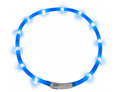 J&V Led Light Halsband Blauw
