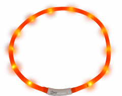 J&V Led Light Halsband Orange