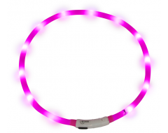 J&V Led Light Halsband Roze