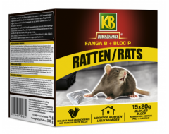 KB Home Defense Ratten blokjes 15x20gr